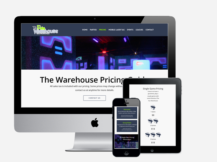 The Fun Warehouse Website