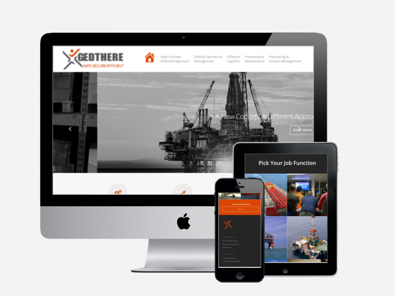 Gedthere Responsive Website