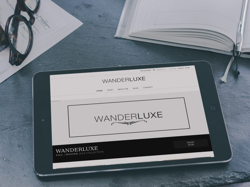 Wander Luxe Website Tablet
